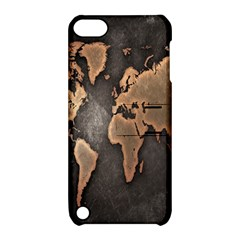Grunge Map Of Earth Apple Ipod Touch 5 Hardshell Case With Stand