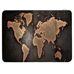Grunge Map Of Earth Samsung Galaxy Tab 7  P1000 Flip Case