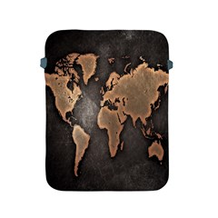 Grunge Map Of Earth Apple iPad 2/3/4 Protective Soft Cases