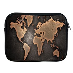 Grunge Map Of Earth Apple Ipad 2/3/4 Zipper Cases