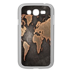 Grunge Map Of Earth Samsung Galaxy Grand Duos I9082 Case (white)