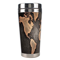 Grunge Map Of Earth Stainless Steel Travel Tumblers