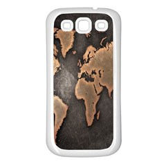 Grunge Map Of Earth Samsung Galaxy S3 Back Case (white)