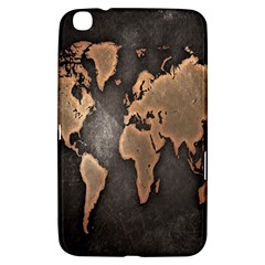 Grunge Map Of Earth Samsung Galaxy Tab 3 (8 ) T3100 Hardshell Case