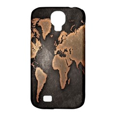 Grunge Map Of Earth Samsung Galaxy S4 Classic Hardshell Case (PC+Silicone)