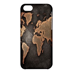 Grunge Map Of Earth Apple Iphone 5c Hardshell Case