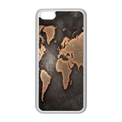 Grunge Map Of Earth Apple Iphone 5c Seamless Case (white)