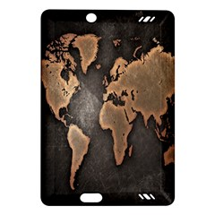 Grunge Map Of Earth Amazon Kindle Fire Hd (2013) Hardshell Case