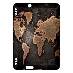 Grunge Map Of Earth Kindle Fire HDX Hardshell Case