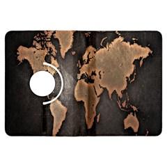 Grunge Map Of Earth Kindle Fire Hdx Flip 360 Case