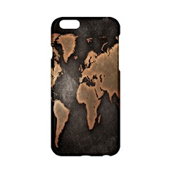 Grunge Map Of Earth Apple Iphone 6/6s Hardshell Case