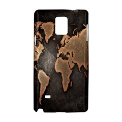 Grunge Map Of Earth Samsung Galaxy Note 4 Hardshell Case