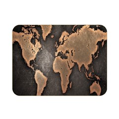 Grunge Map Of Earth Double Sided Flano Blanket (mini)