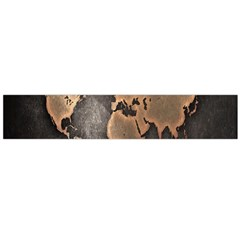 Grunge Map Of Earth Flano Scarf (large)