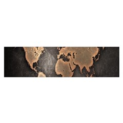 Grunge Map Of Earth Satin Scarf (oblong)