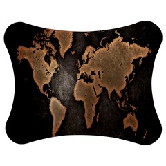 Grunge Map Of Earth Jigsaw Puzzle Photo Stand (bow)