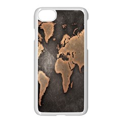 Grunge Map Of Earth Apple Iphone 7 Seamless Case (white)