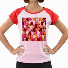 Rose Color Beautiful Flowers Women s Cap Sleeve T-Shirt