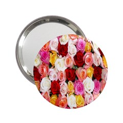 Rose Color Beautiful Flowers 2 25  Handbag Mirrors