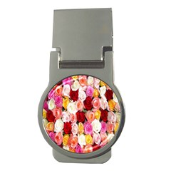 Rose Color Beautiful Flowers Money Clips (Round)