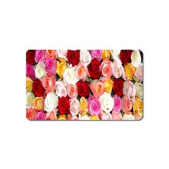 Rose Color Beautiful Flowers Magnet (name Card)