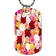 Rose Color Beautiful Flowers Dog Tag (one Side)