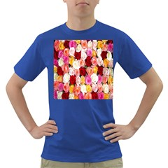 Rose Color Beautiful Flowers Dark T-Shirt