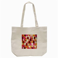 Rose Color Beautiful Flowers Tote Bag (cream)