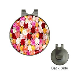 Rose Color Beautiful Flowers Hat Clips with Golf Markers