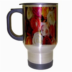 Rose Color Beautiful Flowers Travel Mug (silver Gray)