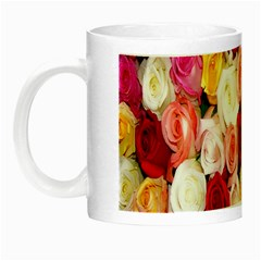 Rose Color Beautiful Flowers Night Luminous Mugs