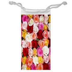 Rose Color Beautiful Flowers Jewelry Bag