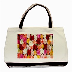 Rose Color Beautiful Flowers Basic Tote Bag