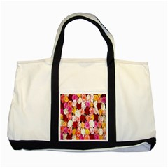Rose Color Beautiful Flowers Two Tone Tote Bag