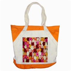 Rose Color Beautiful Flowers Accent Tote Bag