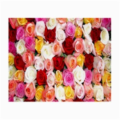 Rose Color Beautiful Flowers Small Glasses Cloth (2 Side)