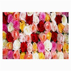 Rose Color Beautiful Flowers Large Glasses Cloth (2 Side)