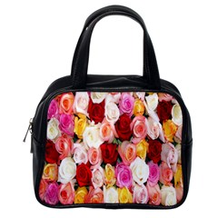 Rose Color Beautiful Flowers Classic Handbags (one Side)