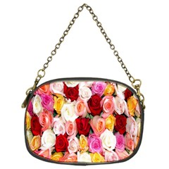 Rose Color Beautiful Flowers Chain Purses (two Sides)
