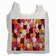 Rose Color Beautiful Flowers Recycle Bag (Two Side)