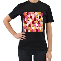 Rose Color Beautiful Flowers Women s T Shirt (black)