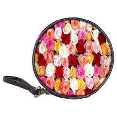 Rose Color Beautiful Flowers Classic 20 Cd Wallets