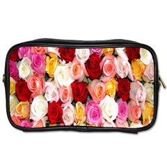 Rose Color Beautiful Flowers Toiletries Bags