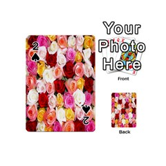 Rose Color Beautiful Flowers Playing Cards 54 (mini)