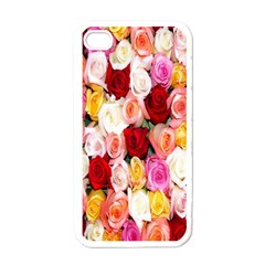 Rose Color Beautiful Flowers Apple Iphone 4 Case (white)