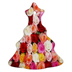 Rose Color Beautiful Flowers Christmas Tree Ornament (two Sides)