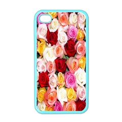 Rose Color Beautiful Flowers Apple Iphone 4 Case (color)