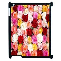 Rose Color Beautiful Flowers Apple Ipad 2 Case (black)