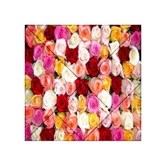 Rose Color Beautiful Flowers Acrylic Tangram Puzzle (4  X 4 )