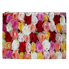 Rose Color Beautiful Flowers Cosmetic Bag (xxl)